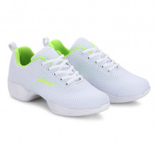White Net & Green Cushion Dance Sneaker DS668103
