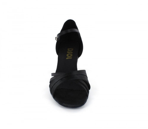 Black Satin Sandal  LS160203