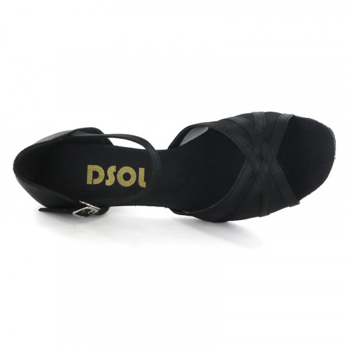 Black Satin with Mesh Sandal  LS160503