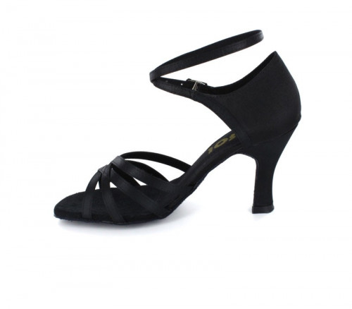 Black Satin Sandal  LS160602