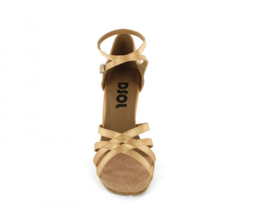 Tan satin Sandal  LS160604