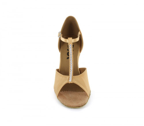 Tan satin with Sparkle Sandal  LS160907