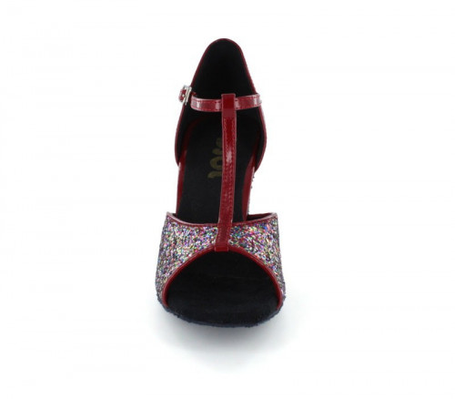 Red Patent Leather & Sparkle Sandal  LS160934