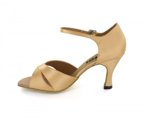 Tan satin Sandal  LS161502