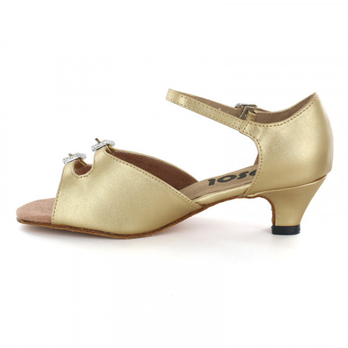 Gold Patent Sandal with Width-Adjusted Buckle LS161906