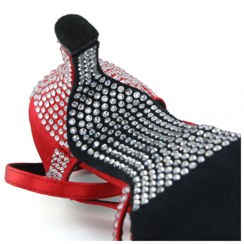 Red Satin with Rhinestones Sandal fls1621T-3
