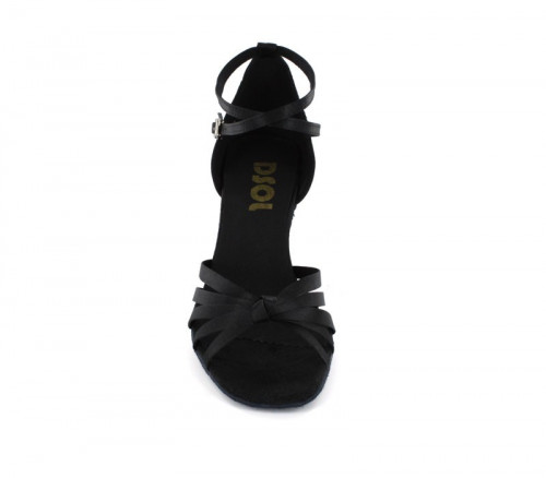 Black Satin Sandal  LS162202