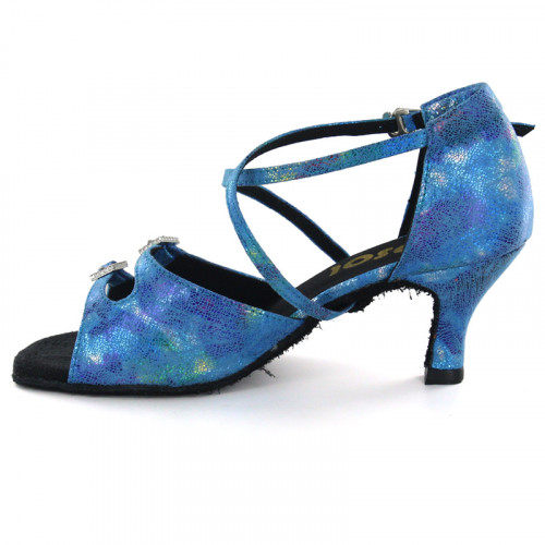 Blue Patent Leather Sandal LS162510