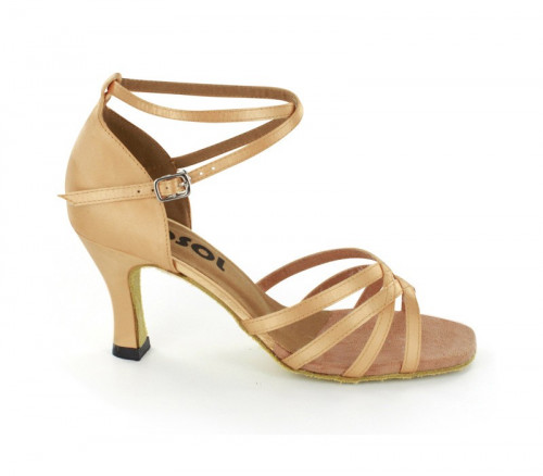 Tan Satin Sandal  LS162801-1