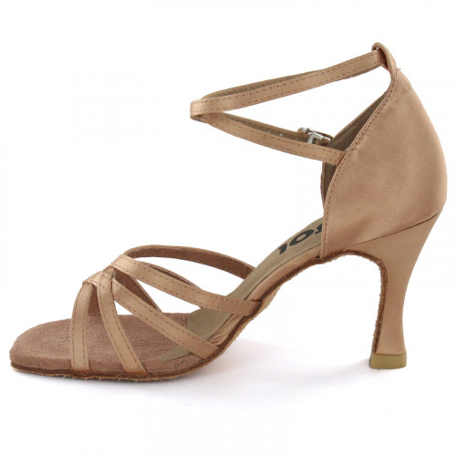 Tan Satin Sandal  LS162805-1