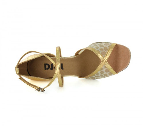 Gold Patent leather & Mesh Sandal  LS162911