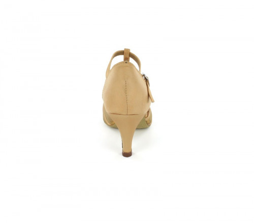 Tan satin with Tan mesh Sandal  LS163504