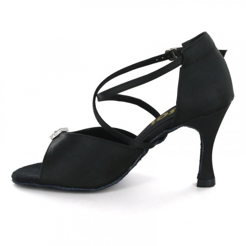 Black Satin Sandal  LS163603