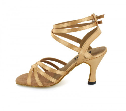 Tan satin Sandal  LS164508