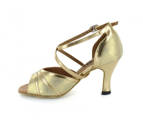Gold Patent with Glitter Sandal  LS164906