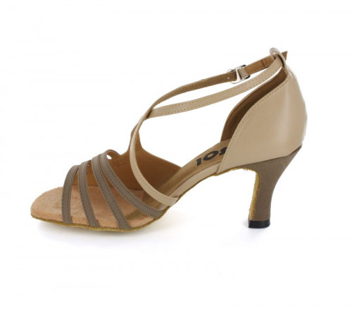 Beige Patent Leather & Velvet Sandal  LS165106