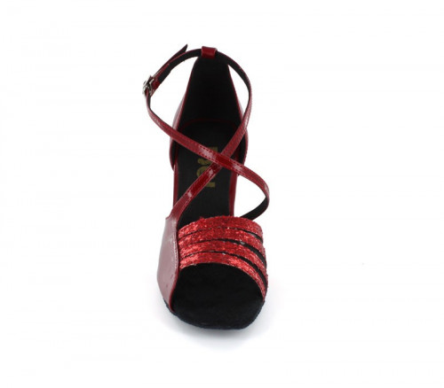 Red Patent with Glitter Sandal  LS165206