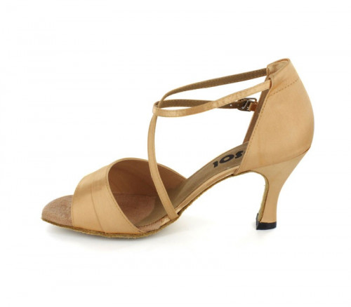 Tan Satin Sandal  LS165904
