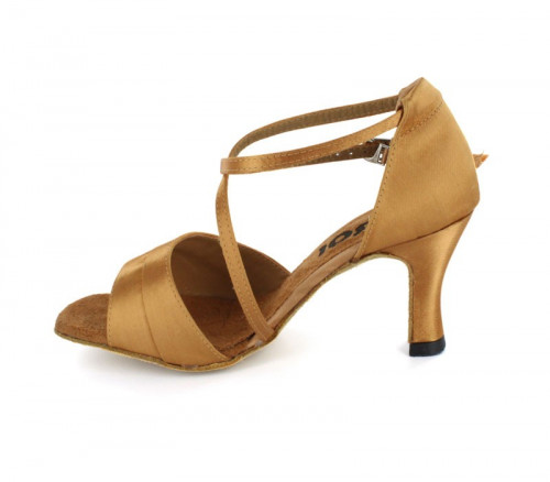 Tan Satin Sandal  LS165920