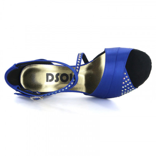 Blue Satin with Rhinestones Sandal 165922