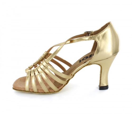 Gold Patent Leather Sandal  LS166101