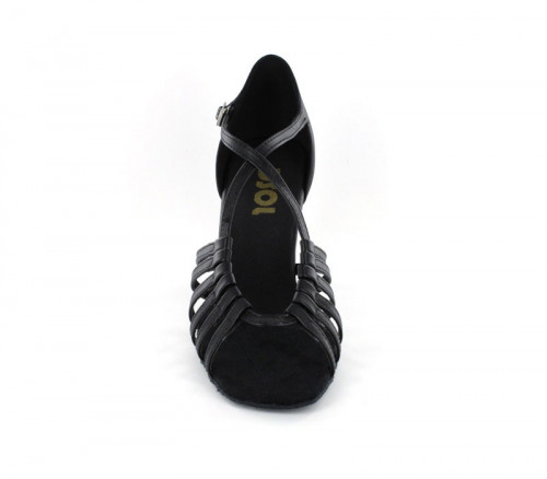 Black Imitated Leather Sandal  LS166112