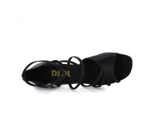 Black Satin Sandal  LS166204