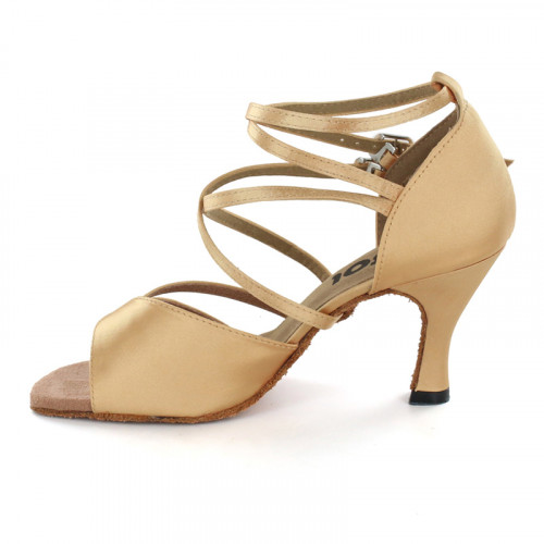 Brown Satin Sandal  LS166205