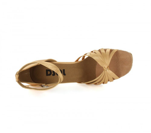 Tan satin Sandal  LS166401