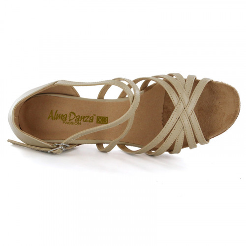Beige Synthetic Leather Sandal adls167002