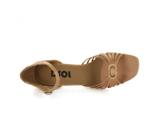 Tan Satin Sandal  LS167101