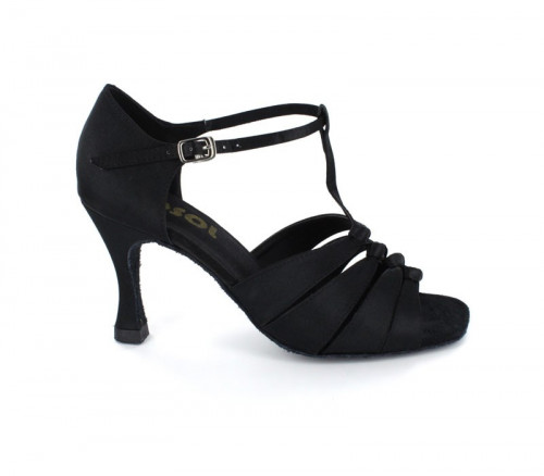 Black Satin Sandal  LS167201