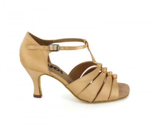 Tan Satin Sandal  LS167203