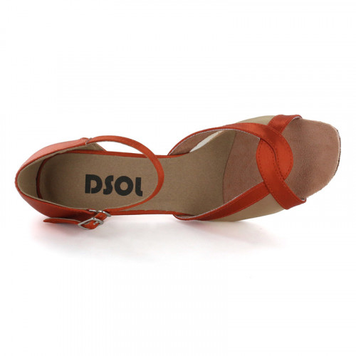 Peachy-gold Satin with Flesh Mesh Sandal  LS167502