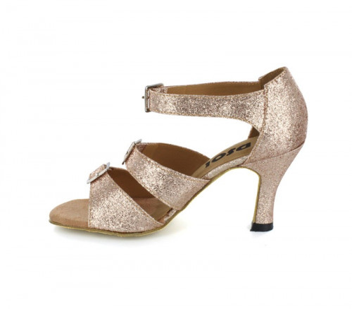 Gold Glitter Sandal  with Width-Adjusted Buckle LS167902