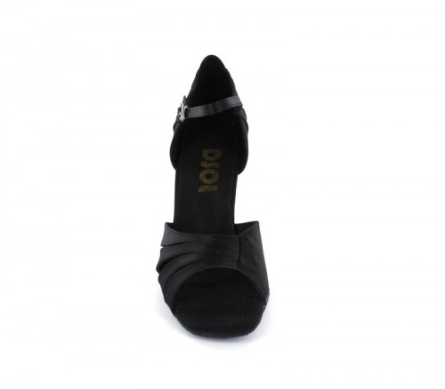 Black Satin Sandal  LS168001