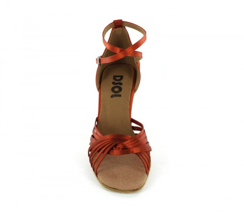 Tan satin Sandal  LS168602