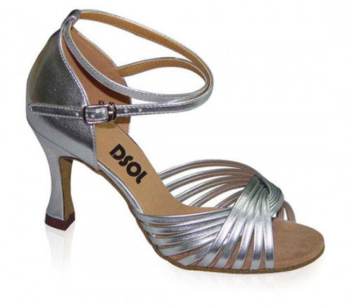silver patent leather sandal ls168603