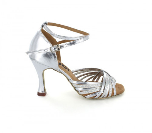Sliver patent leather with glitter on the strap Sandal  LS168610