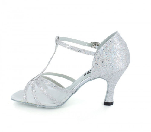 Silver sparkle with white mesh Sandal  LS169204