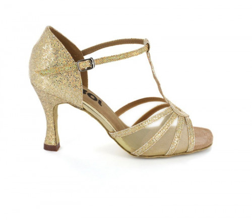 Light glitter with white Mesh Sandal  LS169211