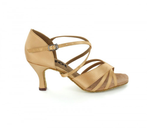 Tan Satin Sandal  LS169401