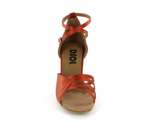 Dark Tan satin Sandal  LS169801