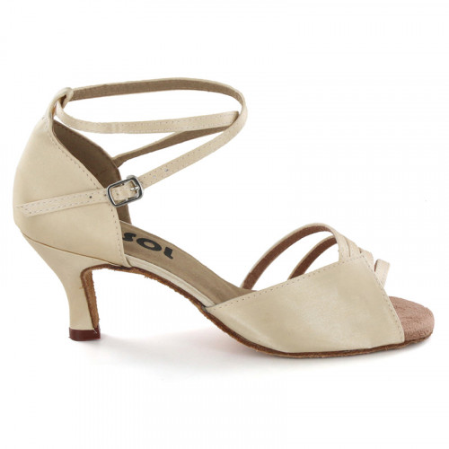 Light Tan Satin Sandal  LS169802