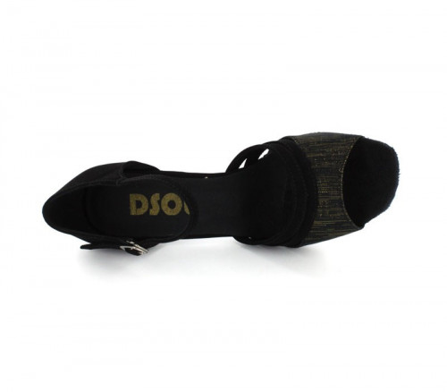 Black Nubuck with Gold Chino Sandal  LS172102