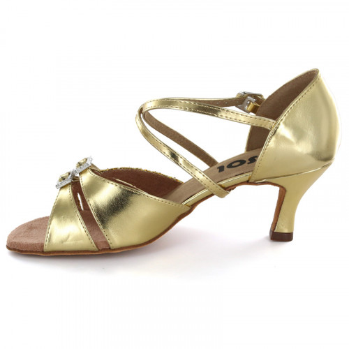 Gold Patent Leather & Glitter Sandal LS172404