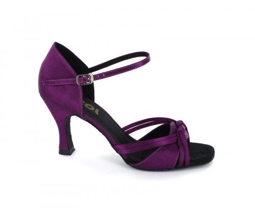 Purple Satin Sandal  LS172604