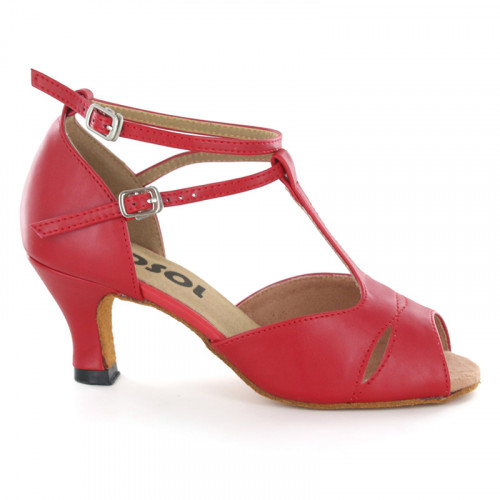 Red leather Close-toe  LS172702