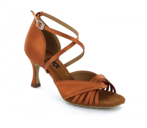 Brown satin Close-toe  LS173103