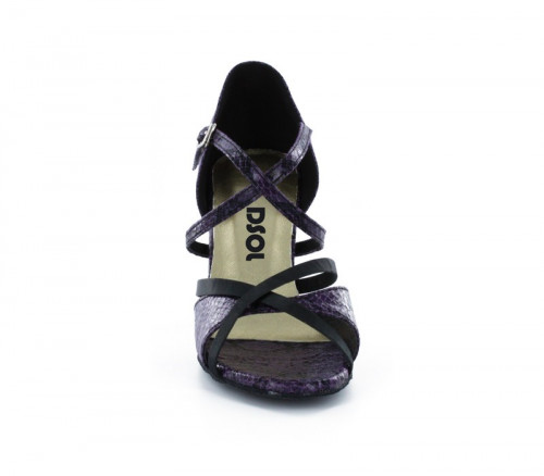 Purple & black patent Sandal  LS174003